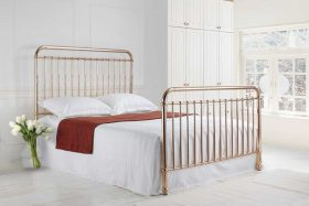 Cleveland Metal Bed Rose Gold