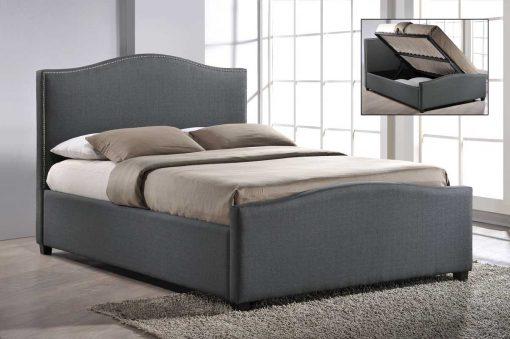 Colorado Fabric Bed Grey