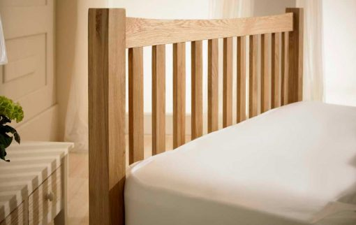 Eleanor Solid Oak Shaker Bed Headboard