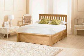 Emperor Solid Oak Ottoman Bed