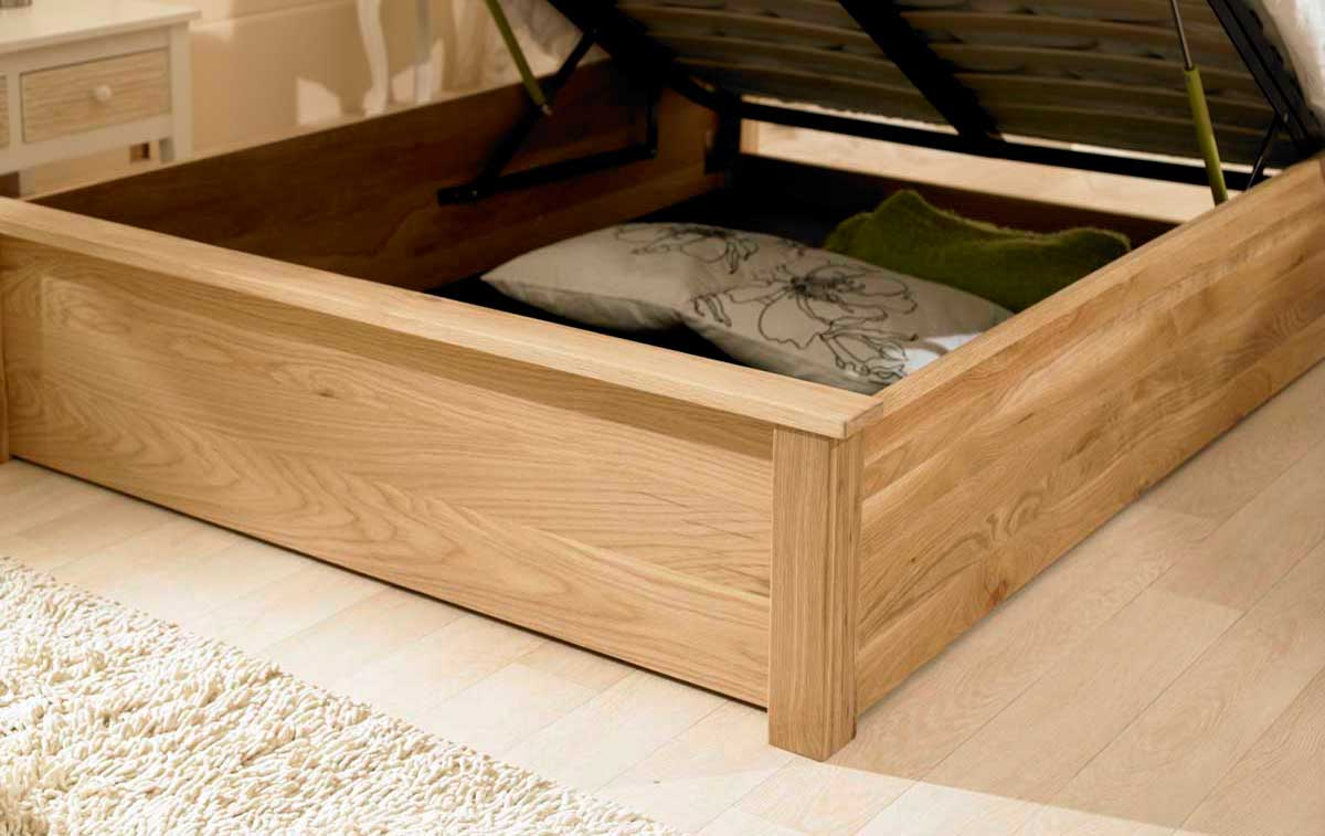 Pleasing Emperor Solid Oak Ottoman Bed Lamtechconsult Wood Chair Design Ideas Lamtechconsultcom