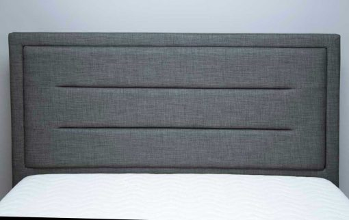 Javea Fabric Ottoman Bed Grey Headboard