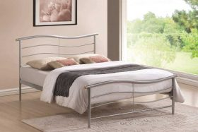 London Metal Bed Silver