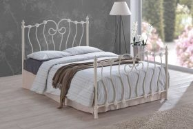 Lyon Metal Bed Ivory