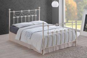 Manhattan Metal Bed Ivory