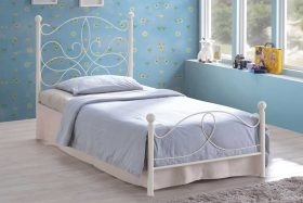 Memphis Metal Bed Ivory