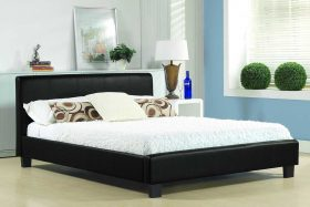 Milano Faux Leather Bed Black