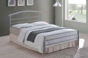 Napoli Metal Bed Silver