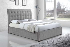 Orlando Fabric Bed Light Grey