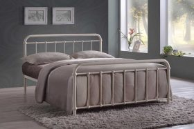 Paris Metal Bed Ivory