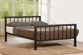 Roma Metal Bed Black