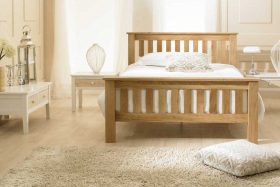 Toulouse Solid Oak Farmhouse Style Bed