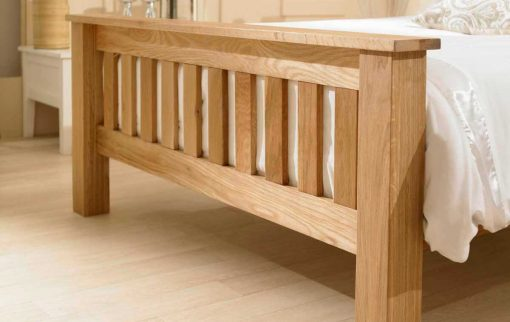 Toulouse Solid Oak Farmhouse Style Bed Footboard