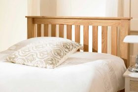 Toulouse Solid Oak Farmhouse Style Bed Headboard