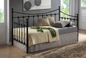 Tuscany Metal Day Bed Black