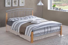 Vienna Metal Bed Silver Wood