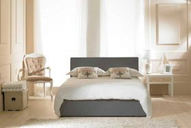 Visage Faux Leather Ottoman Bed Grey