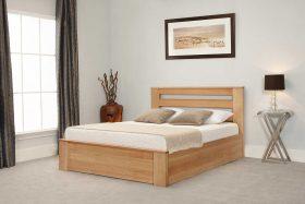 Charnwood Oak Ottoman Bed Down