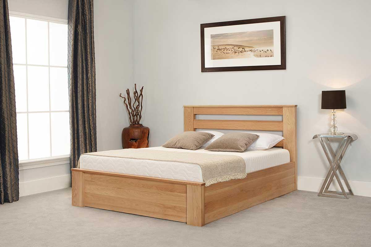 Astounding Bosworth Solid Oak Super King Ottoman Bed Beatyapartments Chair Design Images Beatyapartmentscom