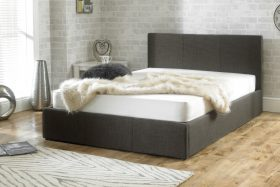Lucca Fabric Ottoman Bed Grey