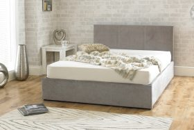Lucca Fabric Ottoman Bed Stone