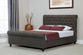 Barcelona Fabric Ottoman Bed Grey