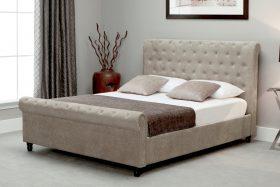 Barcelona Fabric Ottoman Bed Stone