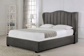 Hallaton Fabric Ottoman Bed Grey