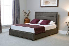 Javea Fabric Ottoman Bed Grey