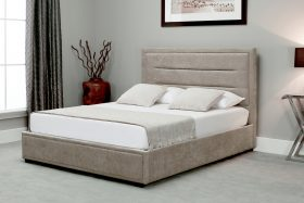 Javea Fabric Ottoman Bed Stone