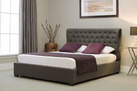Marbella Fabric Ottoman Bed Grey