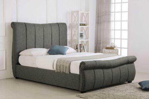 Newstead Fabric Ottoman Bed Grey