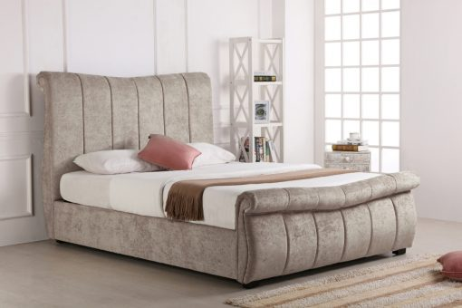 Newstead Fabric Ottoman Bed Stone