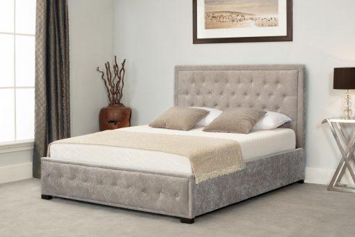 Astonishing Oakham Stone Fabric Ottoman King Size Bed Creativecarmelina Interior Chair Design Creativecarmelinacom